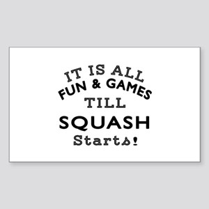 Squash Fun And Games Designs Sticker (Rectangle)