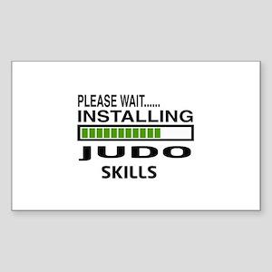 Please wait, Installing Judo S Sticker (Rectangle)