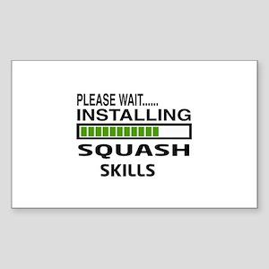 Please wait, Installing Squash Sticker (Rectangle)