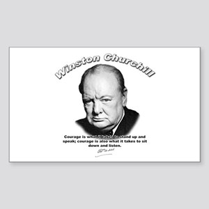 Winston Churchill 01 Rectangle Sticker