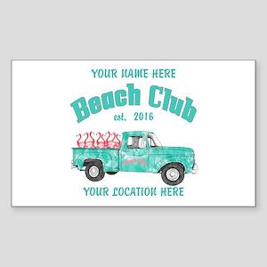 Flamingo Beach Club Sticker