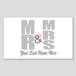 Mr and Mrs Love Sticker