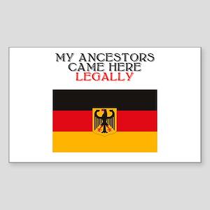 German Heritage Rectangle Sticker