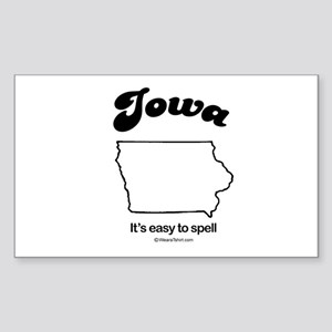 IOWA: It's easy to spell Rectangle Sticker