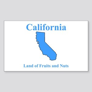 California Land of Fruits and Nuts Sticker (Rectan