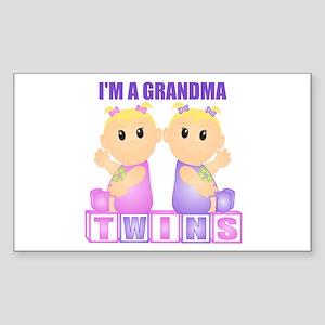 I'm A Grandma (BGG:blk) Rectangle Sticker