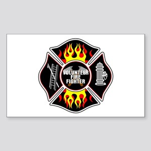Volunteer Firefighter Sticker (Rectangle)