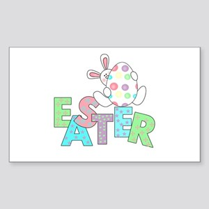 Bunny With Easter Egg Rectangle Sticker