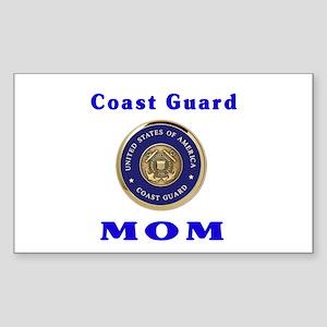 COAST GUARD MOM Rectangle Sticker