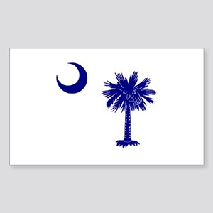 Palmetto and Crescent Rectangle Sticker
