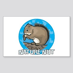 Nature Nut Rectangle Sticker