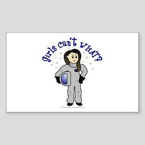 Light Astronaut Rectangle Sticker