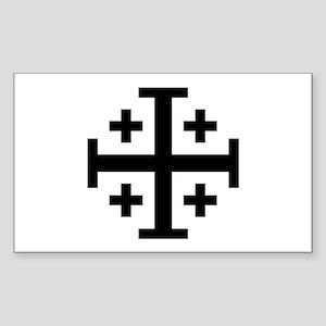 Crusaders Cross (Black) Rectangle Sticker