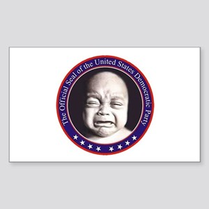 Official Seal Of The Democrat Sticker (Rectangular