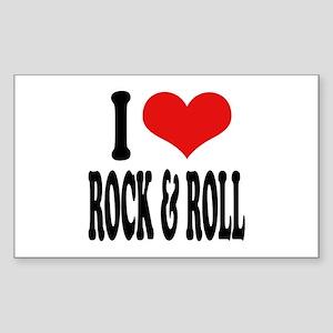 I Love Rock & Roll Rectangle Sticker