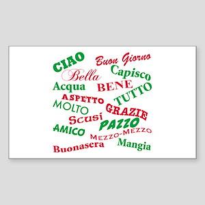 Italian Sayings Rectangle Sticker