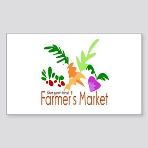 Farmer's Market Rectangle Sticker