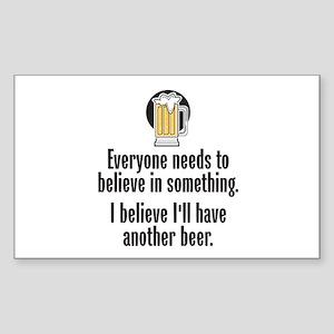 Beer Believe - Sticker (Rectangle)