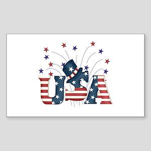 USA Fireworks Rectangle Sticker