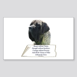 Brindle Tribute Rectangle Sticker