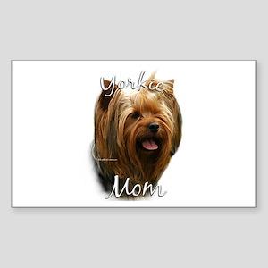 Yorkie Mom2 Rectangle Sticker
