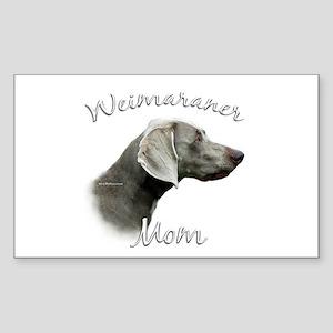 Weimaraner Mom2 Rectangle Sticker