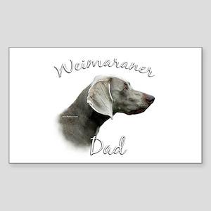 Weimaraner Dad2 Rectangle Sticker
