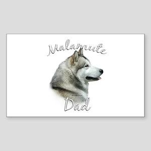 Malamute Dad2 Rectangle Sticker