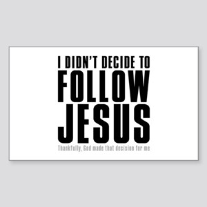 Follow Jesus Rectangle Sticker