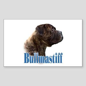 Bullmastiff(brindle)Name Rectangle Sticker