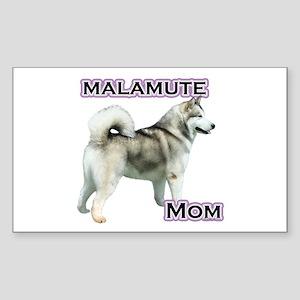 Malamute Mom4 Rectangle Sticker