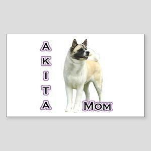 Akita Mom4 Rectangle Sticker