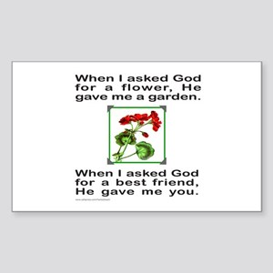 GOD GAVE ME YOU Rectangle Sticker