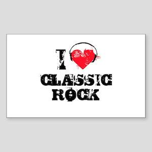 I love classic rock Rectangle Sticker