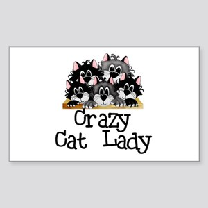 Crazy Cat Lady Rectangle Sticker