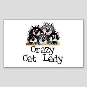 Crazy Cat Lady Rectangle Sticker