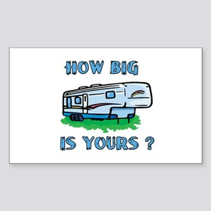 How big is yours? Rectangle Sticker