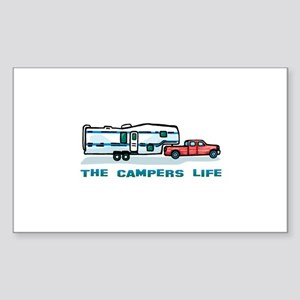 The campers life Rectangle Sticker