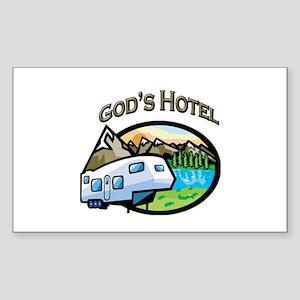 God's Hotel Rectangle Sticker