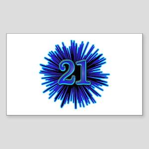 Cool 21st Birthday Rectangle Sticker
