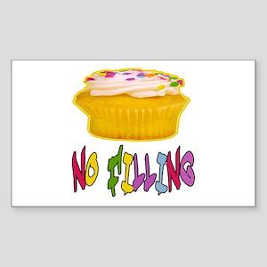 CUPCAKE NO FILLING-T-SHIRTS Rectangle Sticker