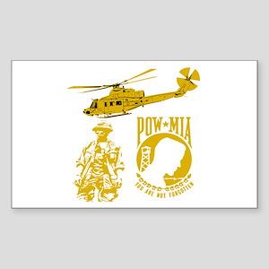 POW-MIA Gold Rectangle Sticker