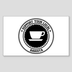 Support Barista Rectangle Sticker