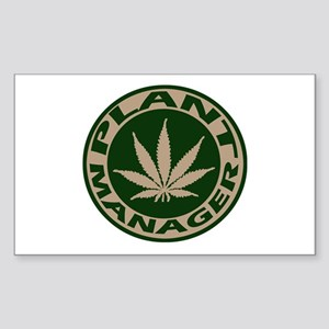 Plant Manager Rectangle Sticker