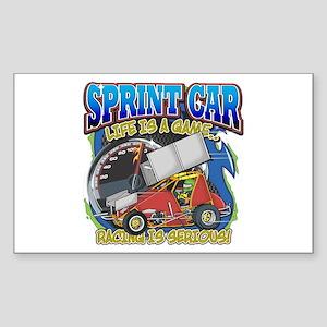Sprint Car Life Rectangle Sticker