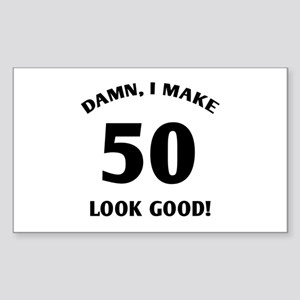 50 Yr Old Gag Gift Sticker (Rectangle)