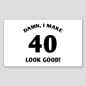 40 Yr Old Gag Gift Sticker (Rectangle)