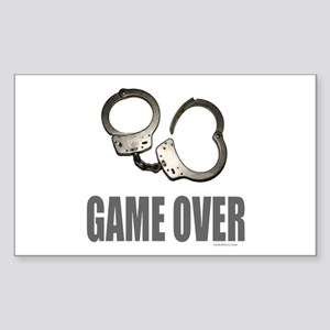 HANDCUFFS/POLICE Rectangle Sticker
