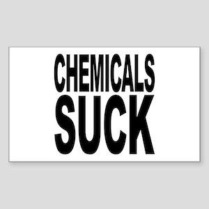 Chemicals Suck Rectangle Sticker