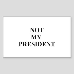 Not My President Rectangle Sticker